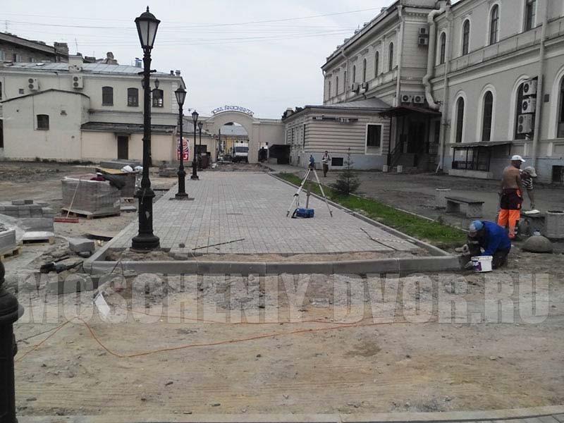 монтаж тротуарного полотна
