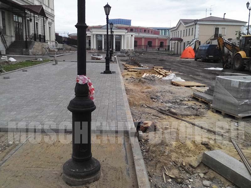 укладка тротуарной плитки Балтийский вокзал