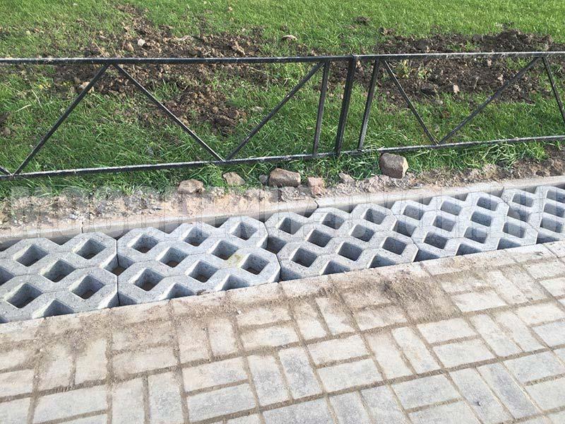 монтаж плитки эко решетка